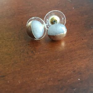 Gold and grey studs